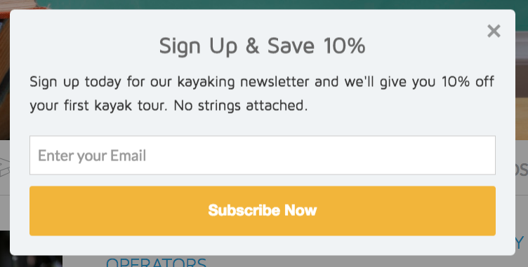 Good Email Building Popup Example