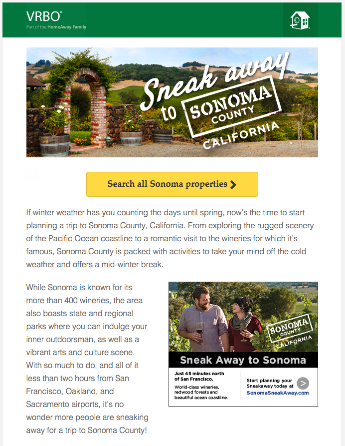Example Travel Post Purchase Email